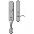 "Rocky Mountain Hardware<br />G572/E737 - Entry Mortise Lock Set - 3"" x 20"" Exterior with 2-1/2"" x 13"" Interior Arched Escutcheons"