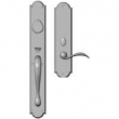 "Rocky Mountain Hardware<br />G761/E728 - Entry Dead Bolt/Spring Latch Set - 2-3/4"" x 20"" Exterior with 3"" x 13"" Interior Arched Escutcheons"