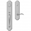 "Rocky Mountain Hardware<br />G770/E728 - Entry Dead Bolt/Spring Latch Set - 3-1/2"" x 20"" Exterior with 3"" x 13"" Interior Arched Escutcheons"