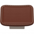 Turnstyle Designs<br />H1876 - Saville Leather, Cabinet Knob, Small Scalloped Square, 2 1/16""