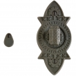 "Rocky Mountain Hardware<br />IP10800 - Privacy Mortise Bolt - 2-1/2"" x 5-1/8"" Briggs Escutcheons"