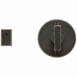 "Rocky Mountain Hardware<br />IP205 - Privacy Mortise Bolt - 2-1/4"" Round Metro Escutcheons"