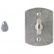"Rocky Mountain Hardware<br />IP512  - Privacy Mortise Bolt - 2-1/2"" x 3-3/8"" Curved Escutcheon"