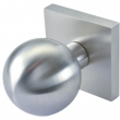 Linnea Stainless Steel<br />LK80S-PA - Passage LK80 Knobset with Square Rose
