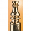 Omnia<br />085/STP2 - Omnia Solid Brass Pair of Steeple Finials