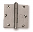 Omnia<br />985/35BTN - Omnia Solid Brass Plain Bearing Mortise Hinge 3 1/2&quot; x 3 1/2&quot;
