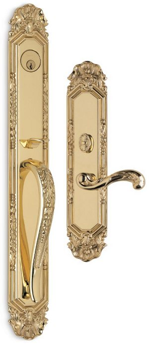 OMNIA SOLID BRASS ENTRY HANDLESETS