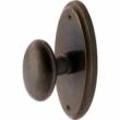 "5-1/8"" x 2-1/2"" Oval Passage Set with 660 Carlisle Knob"