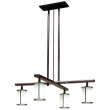 Rocky Mountain Hardware<br />C450-LED - Cross Arm Chandelier with Round Glass and LED Lamps
