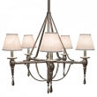 Rocky Mountain Hardware<br />C500 - Five-Arm Towne Chandelier with Prisms