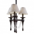Rocky Mountain Hardware<br />C525 - Three-Arm Towne Chandelier with Crystals and Prisms