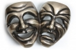 Rocky Mountain Hardware<br />COMEDY/TRAGEDY MASK GRIPS   G80134   - Custom Door Pulls for Left and Right Door - Per Pair