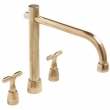 Rocky Mountain Hardware<br />DMF P703-P301 - Rocky Mountain Deck Mount Faucet with Straight P703 Spout
