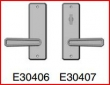 Rocky Mountain Hardware<br />E30406 / E30407  - Patio Dead Bolt/ Spring Latch  2 1/2&quot; x 8&quot; Hammered escutcheon