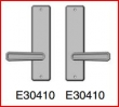 Rocky Mountain Hardware<br />E30410 / E30410 - Passage Spring Latch 2 1/2&quot; x 10&quot; hammered Escutcheon