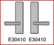 Rocky Mountain Hardware<br />E30410 / E30410  - Privacy Spring Latch 2 1/2&quot; x 10&quot; hammered escutcheon