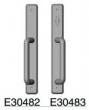 Rocky Mountain Hardware<br />E30482 / E30483 - Patio Sliding Door Trim 1 3/4&quot; x 13&quot; hammered escutcheon american cylinder