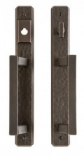 Rocky Mountain Hardware - Hammered Entry Sliding Door Set - 1 3/4