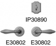 Rocky Mountain Hardware<br />E30804/E30804/IP30890 - Patio Dead Bolt/Spring Latch 2 1/2&quot; x 4 1/2&quot; Bordeaux Escutcheon