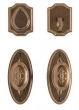 Rocky Mountain Hardware<br />E30806/E30806 with DB30890 - Oval Bordeaux Entry Set - 2 1/2&quot; x 5 1/2&quot;
