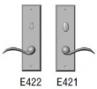Rocky Mountain Hardware<br />E422/E421 - 3&quot; x 10&quot; Rectangular Escutcheon - Privacy Mortise Bolt