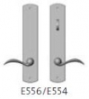 Rocky Mountain Hardware<br />E556/E554 Thumb Turn - Endura Trilennium Curved Multipoint Inactive/Thumb Turn Lever Set