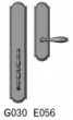 Rocky Mountain Hardware<br />G030/E056 - 3 1/2&quot; X 20&quot; EXTERIOR WITH 3&quot; X 11&quot; INTERIOR ELLIS ESCUTCHEONS - FULL DUMMY