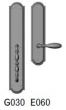 Rocky Mountain Hardware<br />G030/E060 - 3 1/2&quot; X 20&quot; EXTERIOR WITH 3&quot; X 13&quot; INTERIOR ELLIS ESCUTCHEONS - FULL DUMMY