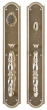Rocky Mountain Hardware<br />G033/E031 - 3 1/2&quot; X 20&quot; ELLIS ESCUTCHEONS - ENTRY MORTISE LOCK