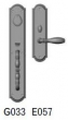 Rocky Mountain Hardware<br />G033/E057 - 3 1/2&quot; X 20&quot; EXTERIOR WITH 3&quot; X 11&quot; INTERIOR ELLIS ESCUTCHEONS - ENTRY MORTISE LOCK