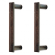 Rocky Mountain Hardware<br />G21075 - 7 1/2&quot; c-to-c Double - Mack Emile Grip - Back to Back - 8 13/16&quot; with 7 1/2&quot; Center to Center Door Pull
