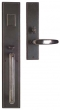 Rocky Mountain Hardware<br />G320/E313 - 3.5&quot; X 20&quot; EXTERIOR WITH 2.5&quot; X 11&quot; INTERIOR STEPPED ESCUTCHEONS - ENTRY MORTISE LOCK