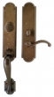 Rocky Mountain Hardware<br />G572/E723 - 3&quot; X 20&quot; EXTERIOR WITH 2 1/2&quot; X 9&quot; INTERIOR ARCHED ESCUTCHEONS - ENTRY MORTISE LOCK