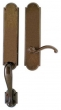 Rocky Mountain Hardware<br />G576/E702 - 3&quot; X 20&quot; EXTERIOR WITH 2 1/2&quot; X 9&quot; INTERIOR ARCHED ESCUTCHEONS - FULL DUMMY