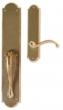 Rocky Mountain Hardware<br />G771/E704 - 3 1/2&quot; X 20&quot; EXTERIOR WITH 2 1/2&quot; X 11&quot; INTERIOR ARCHED ESCUTCHEONS - FULL DUMMY