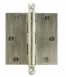 Rocky Mountain Hardware<br />HNG3.5B Single Hinge with Finial Caps  - 3.5&quot; x 3.5&quot; Plain Bearing Solid Bronze Hinge .125&quot; Thick