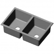 Rocky Mountain Hardware<br />SK436 - DOUBLE-LAGO COMBINTION SINK