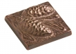 Rocky Mountain Hardware<br />TT217 - ROCKY MOUNTAIN PINECONE TILE 2&quot; x 2&quot;