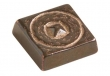 "Rocky Mountain Hardware<br />TT501 - Rocky Mountain Small Circle Pyramid Tile 1-1/8"" x 1-1/8"""