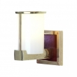 Rocky Mountain Hardware<br />WS405 - Post-Ring Sconce with Designer Leather and LED Lamps