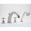 Rohl Faucets<br />U.3249X - ROHL 4-HOLE BATHTUB FILLER WITH HANDSHOWER AND CROSS HANDLES U.3249X