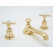 Rohl Faucets<br />U.3731X - ROHL THREE HOLE LOW LEVEL SPOUT WIDESPREAD LAVATORY FAUCET WITH CROSS HANDLES U.3731X