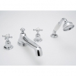 Rohl Faucets<br />U.3738X - ROHL FOUR HOLE DECK MOUNTED TUB SHOWER SET WITH LOW LEVEL SPOUT AND CROSS HANDLES U.3738X