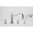 Rohl Faucets<br />U.3745L - ROHL FOUR HOLE DECK MOUNTED TUB SHOWER SET WITH COUNTRY SPOUT AND LEVER HANDLES U.3745L