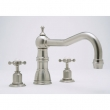 Rohl Faucets<br />U.3756X - ROHL THREE HOLE DECK MOUNTED TUB SET WITH COUNTRY SPOUT AND CROSS HANDLES U.3756X
