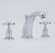 Rohl Faucets<br />U.3761X - ROHL THREE HOLE HIGH-ARC SPOUT WIDESPREAD LAVATORY FAUCET WITH CROSS HANDLES U.3761X