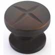 Schaub<br />210-ABZ - Northport, Round Knob, Ancient Bronze, 1-3/8&quot; dia