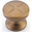 Schaub<br />210-BBZ - Northport, Round Knob, Brushed Bronze, 1-3/8&quot; dia