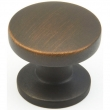 Schaub<br />211-ABZ - Northport, Round Knob, 1-3/8&quot; diameter, Ancient Bronze finish