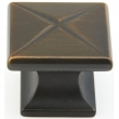 Schaub<br />215-ABZ - Northport, Square Knob, 1-3/8, Ancient Bronze finish